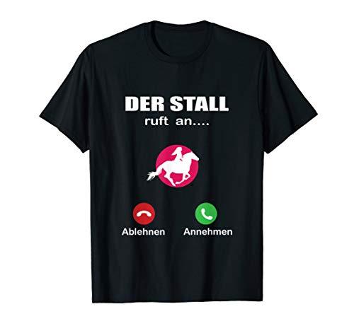 Telefon der Stall ruft an Reitsport Pferde Reiten Pony T-Shirt