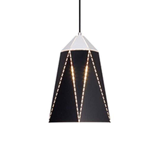 LLLKKK Lámpara colgante de hierro forjado de estilo postal, de una sola cabeza, geométrica, para restaurante, salón, dormitorio, altura ajustable, E27, 110 – 240 V (color: blanco)