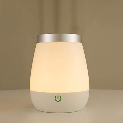 Touch Sensor LED tafellampen USB oplaadbare kinderen snoerloze draagbare nachtverlichting voor slaapkamer decoratieve vaaslamp, woonkamer keuken dimbaar warm (wit)
