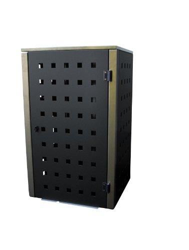 Mülltonnenbox Edelstahl, Modell Eleganza 240 Liter als Dreierbox in RAL 7016 Anthrazitgrau - 2