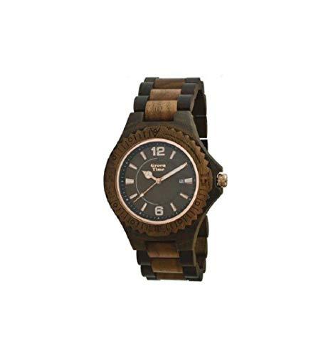 Orologio legno Wood Watch Green Time by ZZERO - ZW057D