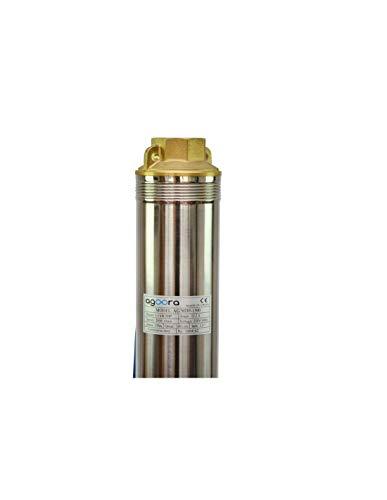 Grandmaster – Bomba De Agua Sumergible Para Pozo, 1500W/2CV, 6m3/h, Acero Inoxidable, Profundidad Máxima 155m, Cable…