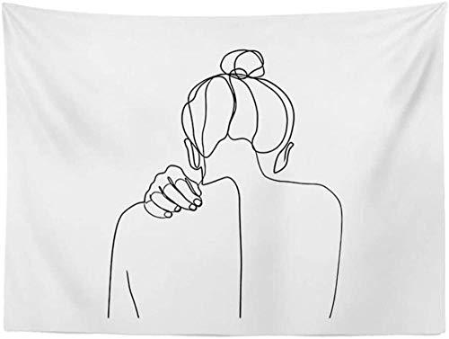 Choro/Forte/Garota Persistente Do Not Look Back Tapeçaria de Pintura Criativa/Toalha de Mesa/Pano de Piquenique/Arte de Parede/Fundo de Fotografia de Cortina (Cor: Tamanho D: 78,74 150 cm)-59,0551,18 cm_A Impr