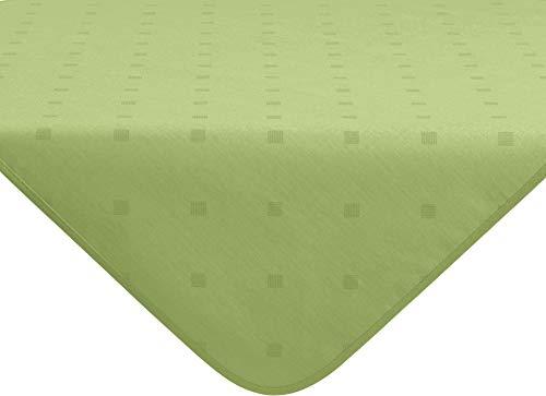 Erwin Müller abwaschbare Tischdecke, Mitteldecke Neuss im Rautendesign, grün Größe 80x80 cm - acrylversiegeltes Gewebe für leichtes Wischen (weitere Farben, Größen)