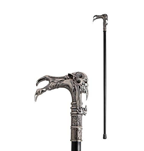 Das Kostümland Totenkopf Krallen Gehstock Spazierstock - 93 cm - Tolles Zubehör zu Ihrem Hexenmeister Teufel Hexer Gothic Kostüm zu Halloween, Fasching und Mottoparty