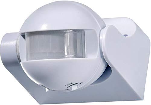 Bewegungsmelder AP 180° weiß Ideal für Halogen Energiespar und LED Leuchten im Innen und Außenbereich (IP 44)