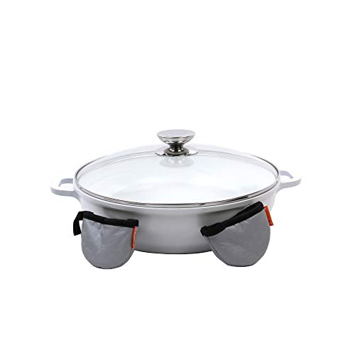 Berndes Vario Click Pearl Induction 13 Inch Sauté Casserole with Glass Lid
