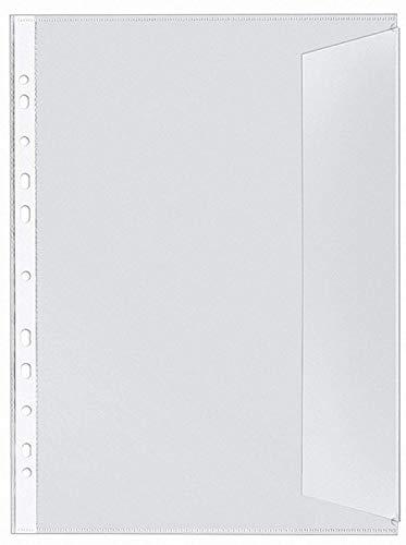 VELOFLEX 5340000 Dokumentenhüllen DIN A4, PP 130my, 10er Packung, dokumentenecht, rechts offen, mit Klappe klar