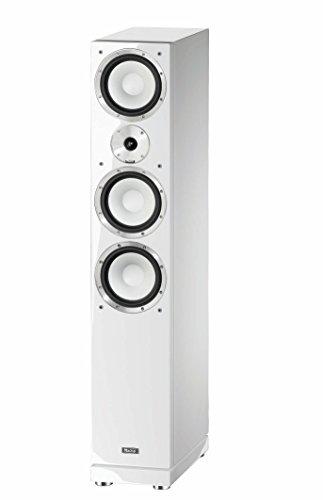 Magnat 147174 Quantum 757 I 3 Wege Standlautsprecher mit hochwertigem HiFi-Sound I Elegante Lautsprecherbox mit Doppelbass – Weiß piano/seidenmatt