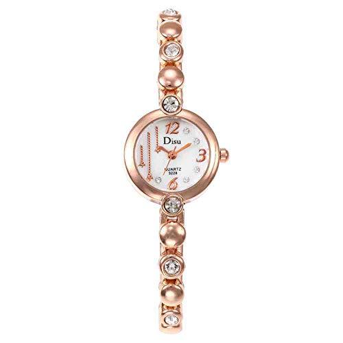 BDDLLM Armbanduhr Neue Legierung Wasser Bohrer Mode lässig aufbau persönlichkeit Armbanduhr mädchen niedlich Sterne Uhr Rose Gold