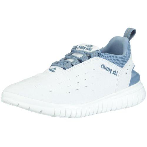 Chung Shi Duflex Trainer Unisex-Erwachsene Sneaker, Mehrfarbig (Weiss/Eisblau 8800220), 35/36 EU