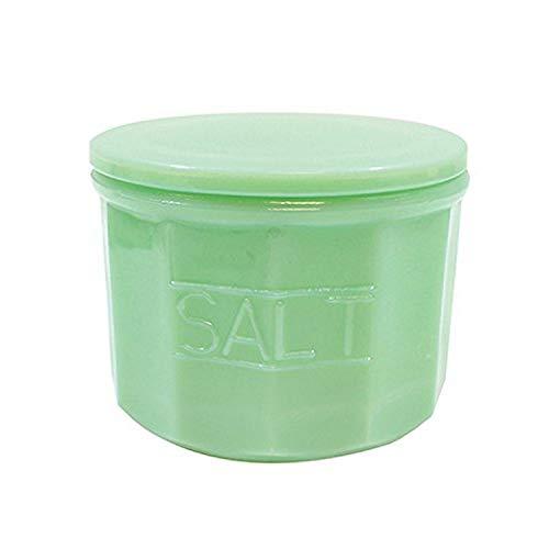 Tablecraft Salt Cellar with Lid, 3.75  x 3.75  x 3.125 , Green