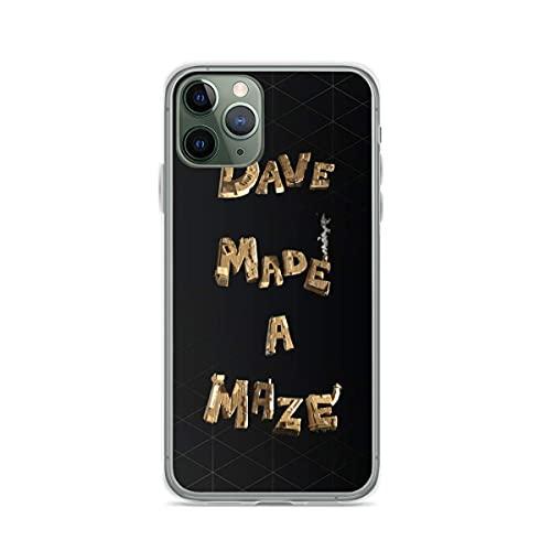 YICHIBAOEL Étuis de téléphone Pure Clear compatibles avec iPhone 12/11 Pro Max 12 Mini SE X/XS Max XR 8 7 6 10s Plus Case-Dave Made A Maze