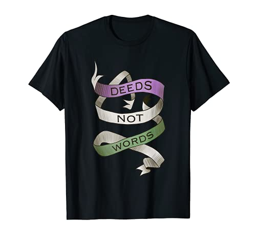Deeds Not Words, Suffragette Femme Droite T-Shirt