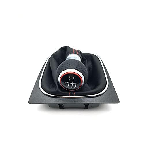 WLDZGGD Pomo De Cambio para V&W para GO&LF V Vi para JE&TTA para Go&lf MK5 R32 GTI 2004-2009 Perilla Cambio Nivel Palanca Cambios Coche 5 6 velocidades (Talla : 5 Velocidad)