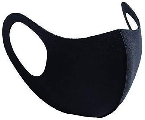Mascarilla facial lavable transpirable reutilizable para niños y niñas con protección bucal divertida imprimible (Batman) - Máscara negra (adulto)