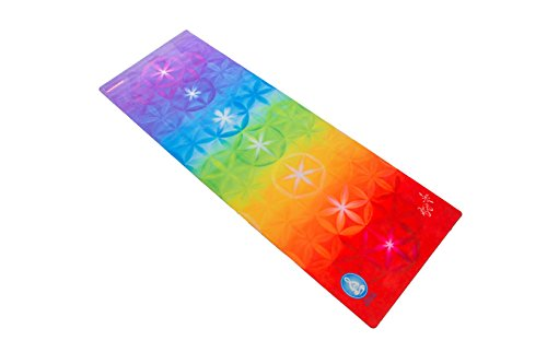 Spiritual Revolution Yoga Combo Mat - Luxury Mat and Towel that Grips While you Sweat. No Slip, PVC Free, and Machine Washable, Rainbow Understanding