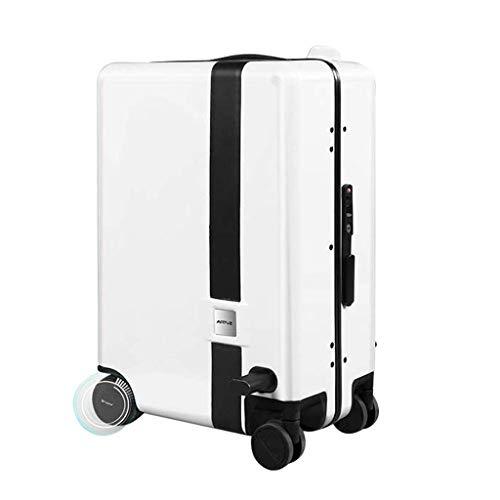 Chunse Scooter Elettrico per valigie, Set Elettrico per Bagagli Intelligente Manico telescopico Borsa per Bagaglio a Mano Borse da Viaggio Valigie elettriche,A