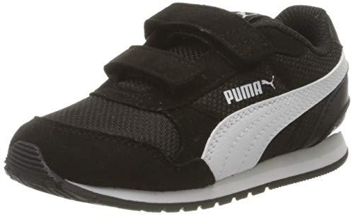 PUMA Unisex Kinder St Runner V2 Mesh V Inf Sneaker, Schwarz Black White-Gray Violet, 21 EU