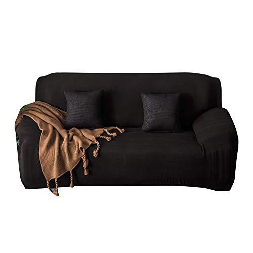 Bankhoezen 1/2/3/4 zits Waterdichte stofdichte stretchstof Zitbank bankhoezen Wasbare zwarte hoes voor bank(235-300cm)