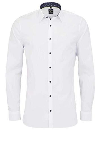 Olymp No. Six super Slim Hemd Langarm New Kent Kragen weiß Größe 40