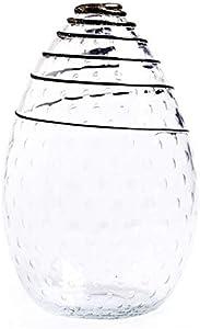 YourMurano Jarrón de cristal hecho a mano en forma de gota con decoraciones en espiral - Hesperia