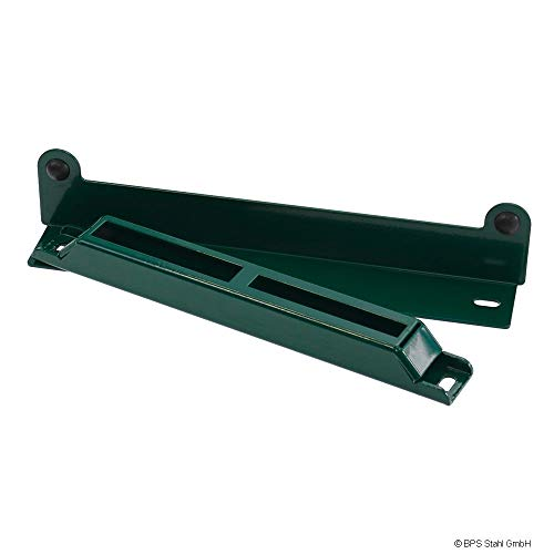 Toranschlag 2 tlg. aus Metall (Moosgrün (RAL 6005))