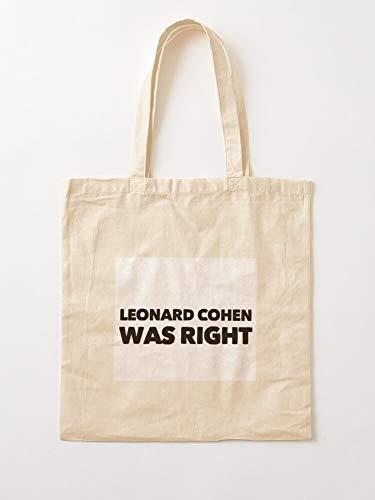 Attracosports Lyrics Band Cohen Musician Song Genious Poem Music Leonard Canvas Tote Umhängetasche Stylish Shopping Casual Bag Faltbare Reisetasche
