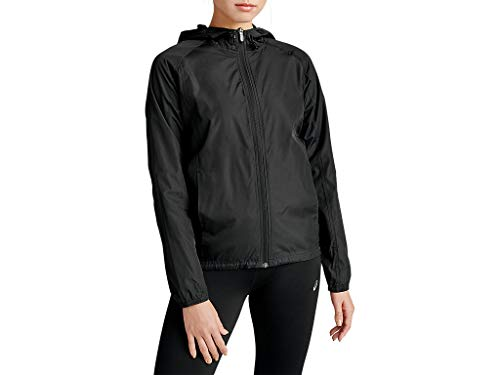 ASICS Women's Packable Jacket Running Clothes, L, Performance Black