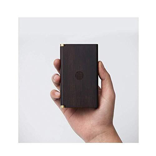 Lkk-kk Caja de almacenamiento de madera maciza caso de cigarrillos, portátil y ligero 20 Purple sándalo, anti-presión de cigarrillos a prueba de humedad, regalos de negocio de los hombres, ancianos En