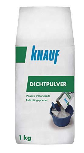 Knauf Dicht-Pulver 1-kg – gebrauchsfertiges Mörtel-Dichtungsmittel, Dicht-Mittel Zusatz für zementgebundene Putze, Mörtel und Beton im Innen- und Außen-Bereich
