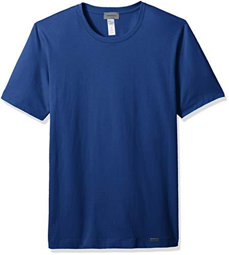 Hanro Herren Living Short Sleeve Shirt Pyjama-Oberteil (Top), Kobalt, X-Large