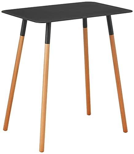 山崎実業(Yamazaki) サイドテーブル 角型 ブラック 約約45X30X50cm プレーン 家具 ソファーサイド ベットサイド 3508