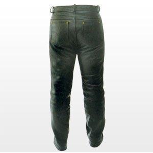 Leren broek lederen jeans lederen jean pant nappa maat XL.