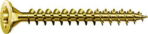 SPAX Universalschraube, 4,0 x 25 mm, 200 Stück, T-STAR plus, Senkkopf, Vollgewinde, 4CUT, YELLOX A2L, 1191020400253