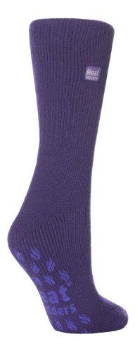 HEAT HOLDERS Damen Thermal Slipper Socken Größe, 7 Farben zur Auswahl, 37-42 eu (Violett)