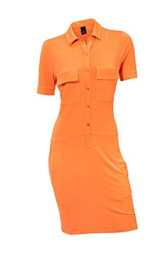 Heine - Best Connections Damen-Kleid Blusenkleid Orange Größe 40