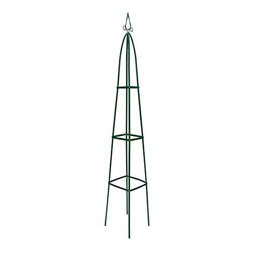 Relaxdays Obelisk Rankhilfe Spitz - 200cm - Grün