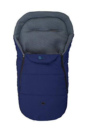 Altabebe AL2450M-01 Sommerfußsack für alle gängigen Kinderwagen, Buggys und Jogger 3D Abstandsgewebe, 12-36 Monate, marine blau