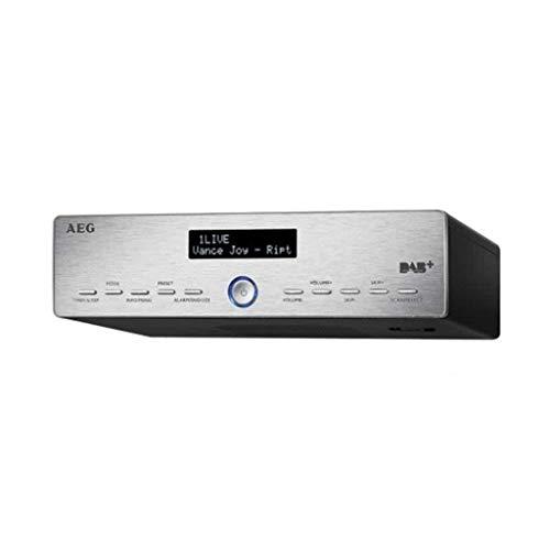 AEG KRC 4368 DAB+/PLL-RDS-UKW-Radio, 20 Senderspeicher, LCD-Display, 3 Stufen-Dimmer, Edelstahldesign