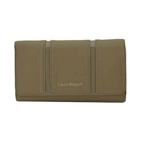 Laura Biagiotti Cartera para mujer en eco piel de PU con soporte de tarjetas y caja de regalo Marrón claro -