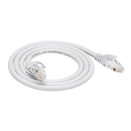 AmazonBasics Cavo Ethernet Cat6, con protezione sulla clip di sgancio, confezione da 5, Nero/Rosso/Blu/Bianco/Verde, 152 cm