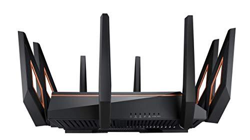 Asus GT-AX11000 ROG Rapture Gaming Router (Ai Mesh WLAN System, WiFi 6 AX11000, Game First V, VPN Fusion, 1x 2.5G LAN, 4x Gigabit LAN Link Aggregation, 1.8 GHz QC CPU, AiProtection, USB 3.0)