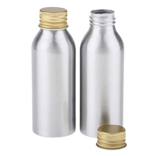 Fenteer 4x Flacons En Plastique Bouteilles de Cosmétiques Stockage Vide De Shampooing Liquide avec Capuchons en Aluminium - 100 ml