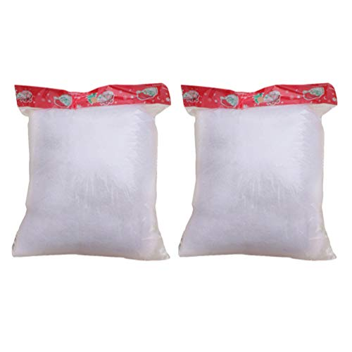 ABOOFAN 2 Bags Christmas Fake Snow Decor Fake Cotton Snow Instant Fluffy Snow Fake Artificial Snow For Christmas Tree Holiday Winter Mantle Village