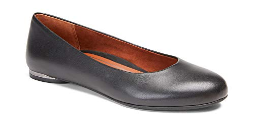 Vionic Women s Jewel Hannah - Ladies Ballet Flats with Concealed Orthotic Arch Support 9 Medium Black Leather US