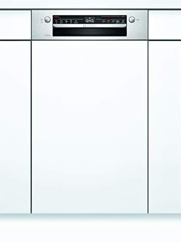 Bosch SPI2XMS01E Serie 2 Geschirrspüler Teilintegriert / F / 45 cm / Edelstahl / 84 kWh/100 Zyklen / 10 MGD / Extra Trocknen / VarioSchublade / Home Connect