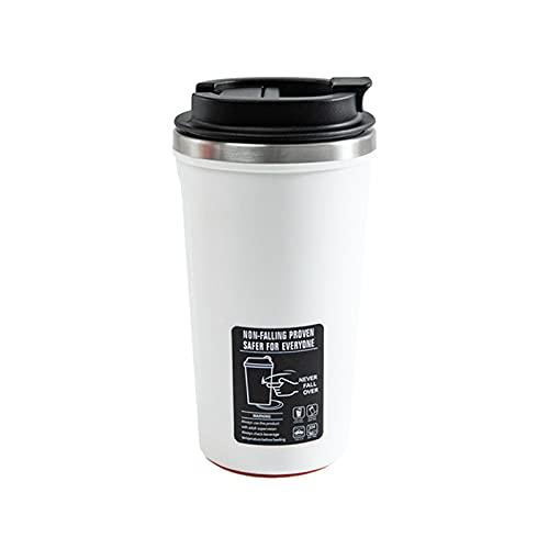 SHENGYANG, Taza del Vaso, Taza de Viaje, Taza de café de Agua, para el hogar, Oficina, Escuela, Vaso con Tapa, para Beber con Hielo, Bebida caliente-520 ml