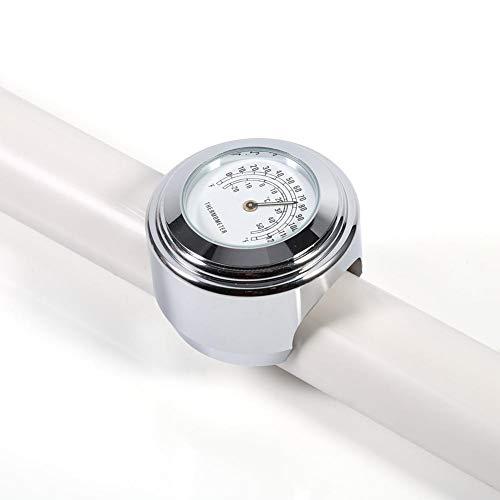 Reloj de Temperatura para Moto, Reloj Manillar Impermeable con Llave Allen