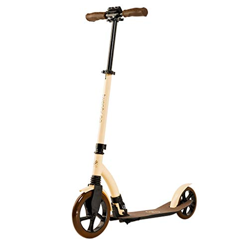comparador City Scooter 2020 Scooter para adultos y niños Altura ajustable hasta 105 mm Scooter plegable Rueda grande Scooter Freno de pie con suspensión delantera